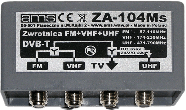Zwrotnica UHF, VHF, FM